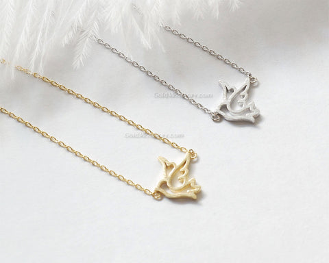Dove necklace silver girly bird necklace sparrow necklace dainty dove necklace silver girly bird necklace sparrow necklace dainty handmade necklace everyday aloadofball Images