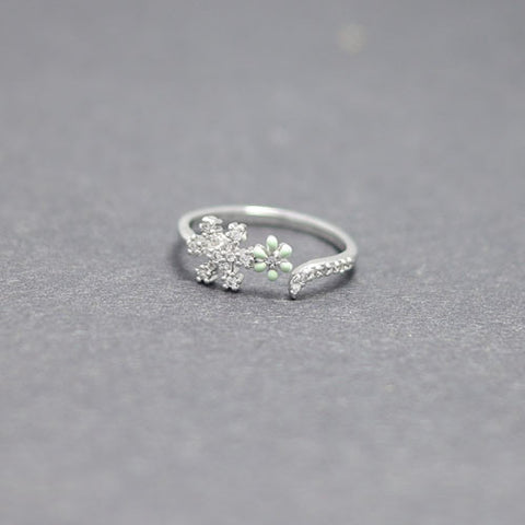 Snowflakes Flower ring