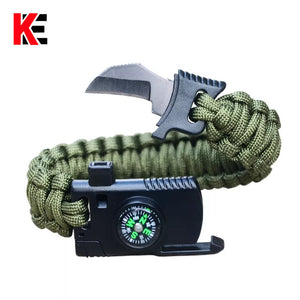 4 In 1 Paracord Survival Bracelet