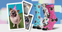 Custom pet socks cat dog party holiday
