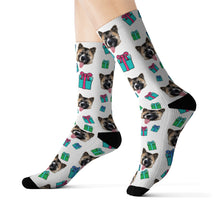 Load image into Gallery viewer, Holiday Theme Custom Pet Socks Presents
