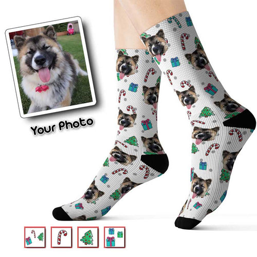 Holiday Theme Custom Pet Socks