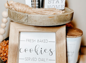 Fresh Baked Cookies Mini Sign