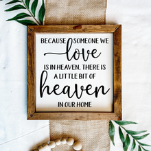 Load image into Gallery viewer, Heaven And Home Wooden Sign