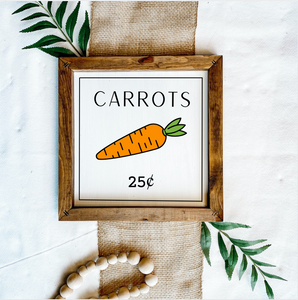 Carrot Patch Wooden Sign