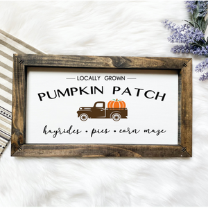 Pumpkin Patch Wooden Sign
