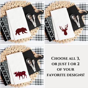 Buffalo Plaid Woodland Animals