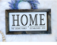 Load image into Gallery viewer, Custom HOME Wooden Sign