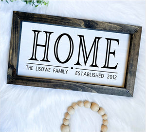 Custom HOME Wooden Sign