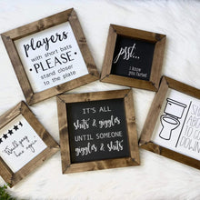 Load image into Gallery viewer, Mini Bathroom Sign Collection