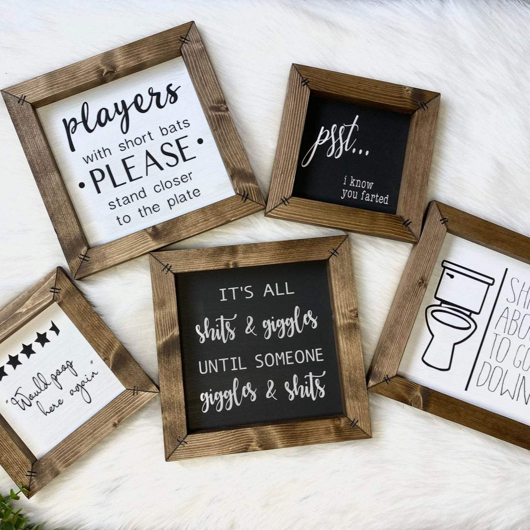Mini Bathroom Sign Collection