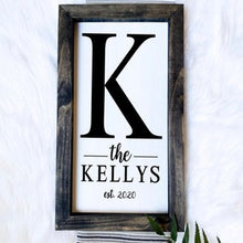 Load image into Gallery viewer, Family Last Name Wooden Sign
