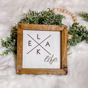 Lake Life Wooden Sign