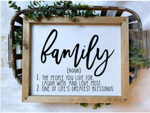 Load image into Gallery viewer, Family Definition Wooden Sign