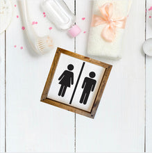 Load image into Gallery viewer, Restroom Wooden Sign