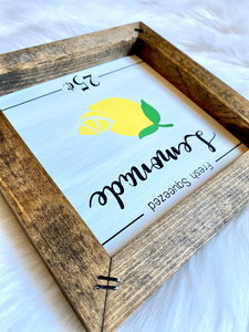 Fresh Squeezed Lemonade Mini Sign