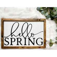 Load image into Gallery viewer, Hello Spring Wooden Sign