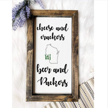 Load image into Gallery viewer, Green Bay Packers Wooden Sign