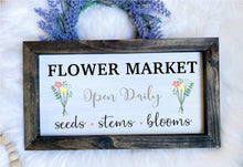 Load image into Gallery viewer, Fresh Flower Market Sign Wooden Sign