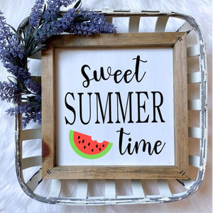 Sweet Summer Time Wooden Sign