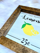 Load image into Gallery viewer, Fresh Squeezed Lemonade Mini Sign