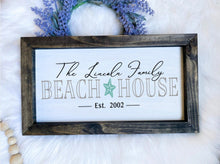 Load image into Gallery viewer, Custom Family Beach House Wooden Sign