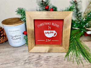 Christmas Blend Sign