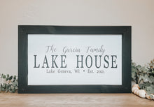 Load image into Gallery viewer, Custom Family Lake House Wood Sign