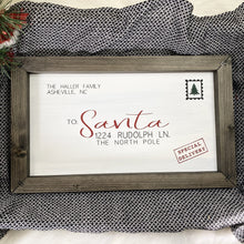 Load image into Gallery viewer, Family Letter To Santa Wooden Sign