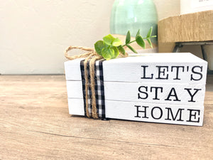 Let's Stay Home Mini Stamped Book