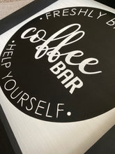 Load image into Gallery viewer, Coffee Bar Wooden Sign