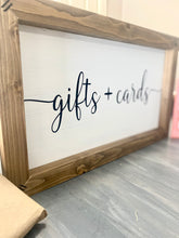 Load image into Gallery viewer, Gifts + Cards Wedding Sign