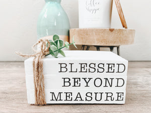 Blessed Beyond Measure Mini Stamped Book