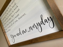 Load image into Gallery viewer, The Notebook Love Quote Wooden Sign
