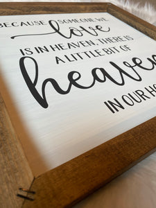 Heaven And Home Wooden Sign