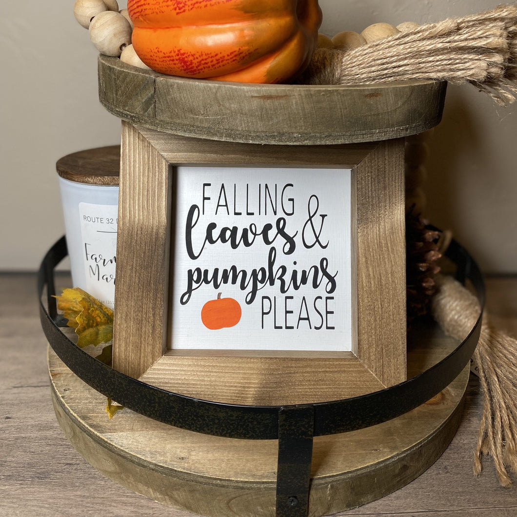 Falling Leaves & Pumpkins Please Sign
