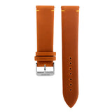 Blade men's Tan Genuine Leather Strap with Orange stitching and Stainless Steel Ardillon 1