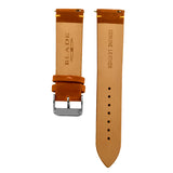Blade men's Tan Genuine Leather Strap with Orange stitching and Stainless Steel Ardillon 2