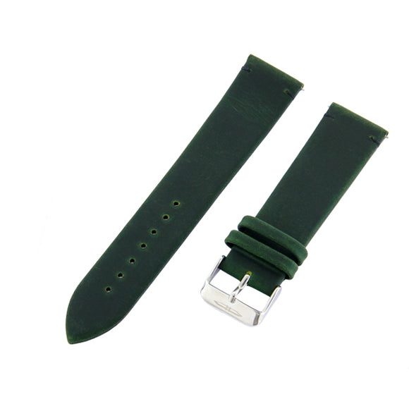 Blade men's Green Genuine Leather Strap with Black stitching and Stainless Steel Ardillon 1