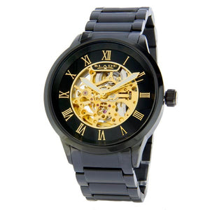 Blade men's Black Dial PVD Black Plated Stainless Steel Case and Band  Skeleton Automatic Mechanical Sempre SS Noir 1