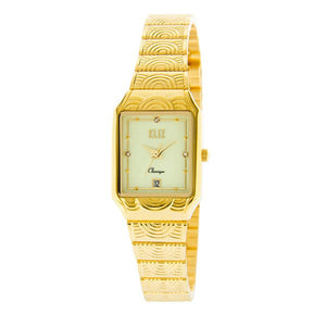 Eliz Women's Luminous Dial Gold plated case and Band Analog Watch ES8564L2GLG