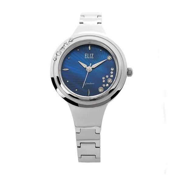 Eliz women's Blue Mother of pearl Dial stainless steel case and band analog watch ES8563L2SQS 1