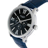 Blade men's Black Dial Stainless Steel Case Black Genuine Leather Strap Multi Function Rise Black 2