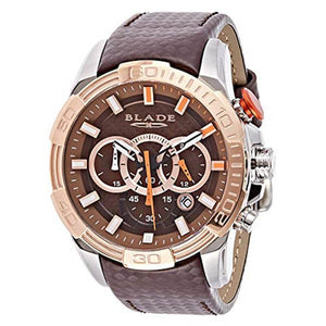 Blade Men's Brown Dial Rose Gold Bezel Brown Leather Strap Chronograph Watch 3508GSS-TOO 1