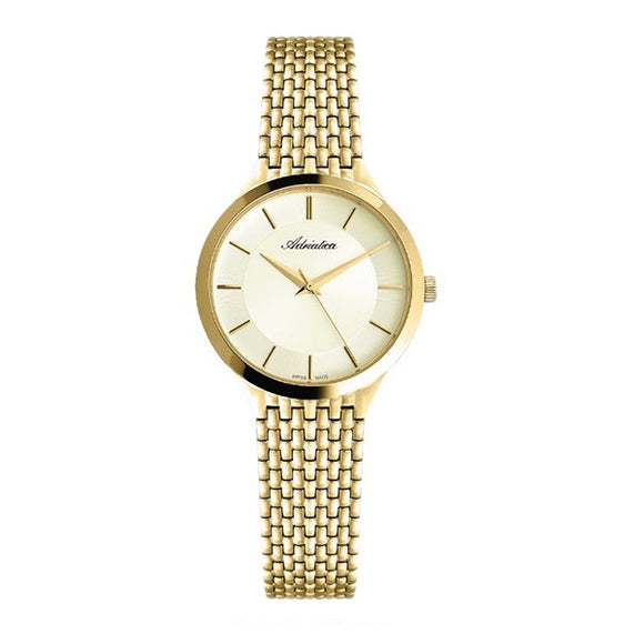 Adriatica Women's Swiss Made Gold Plated Watch - 3176.1111Q