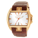 Blade Men's Rose Gold Plated Stainless Steel and Genuine Leather Band Analog Watch 30-3181G RWO 1