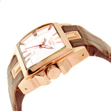 Blade Men's Rose Gold Plated Stainless Steel and Genuine Leather Band Analog Watch 30-3181G RWO 2