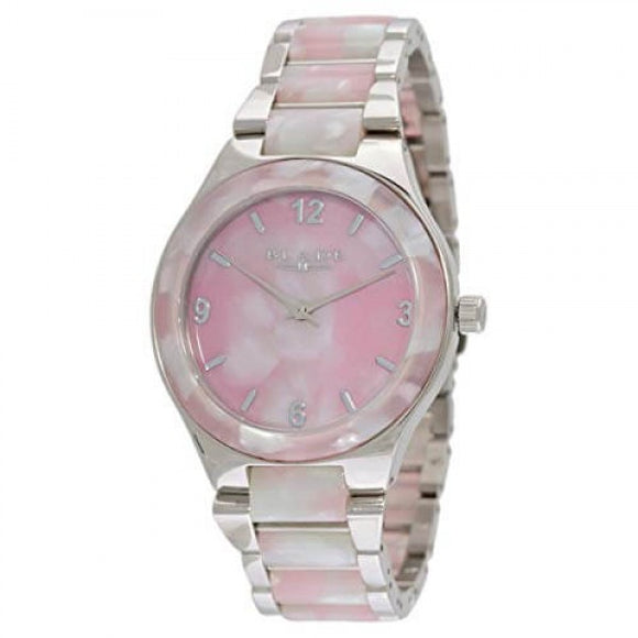 Blade Women's Acetate Dial Stainless Steel Band & Case With Acetate Analog Watch 15-3198L Pink 1