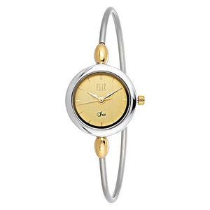 ELIZ Women's Two Tone Gold Plated Casual Watch - ES25-8400L-TC 1