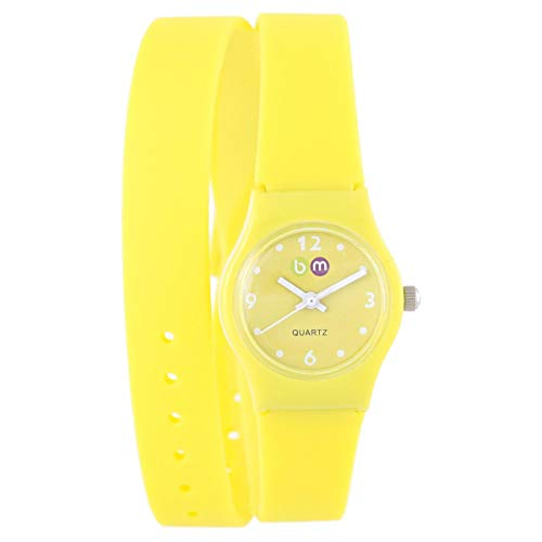 Bart & Melon Women's Yellow Silicone Strap Watch - 11-NL004-YW